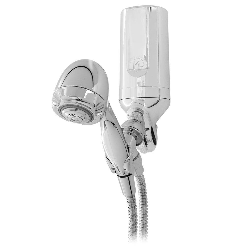 Premium Chrome Shower Water Filter with Wand