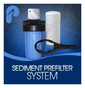 "20"" Big Blue High Flow Sediment System with 5 Micron Filter"