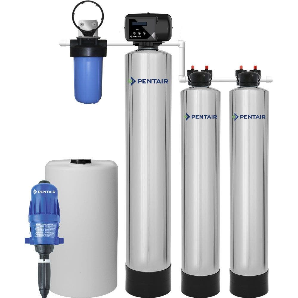 Iron & Manganese Filter and Pelican Water Softener Alternative Combo System (4-6 Bath)