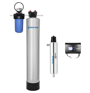 Whole House Water Filter System + UV (1-3 Bathrooms)